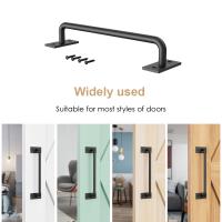 12 inch Door Handle Solid Steel Pull Push  For Sliding Barn Door