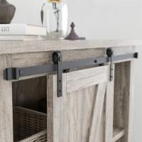2.5-10 FT Classic Single Super Mini Sliding Barn Door Hardware Kit Cabinet TV Stand Window  J Shape Bent