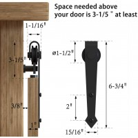 Super Mini  Single Sliding Barn Door Hardware Kit  Arrow