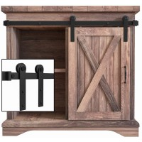 Super Mini Single Sliding Barn Door Hardware Kit  I Style