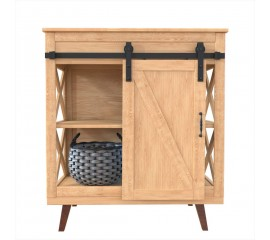 2.5-10FT  Super Mini Sliding Barn Door Hardware Kit Cabinet TV Stand J Shape New Single door kit