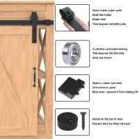2.5-10FT  Super Mini Sliding Barn Door Hardware Kit Cabinet TV Stand J Shape New Single door kit  All Products