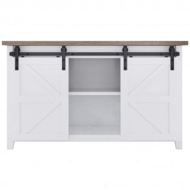4-10 FT Classic Double Door  Super Mini Sliding Barn Door Hardware Kit Cabinet TV Stand Window  J Shape Bent