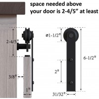 Super Mini  Double Sliding Barn Door Hardware Kit  i Style