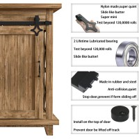 Super Mini  Double Sliding Barn Door Hardware Kit  rhomb
