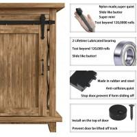 Super Mini Sliding Barn Door Hardware Kit Double Door Arrow