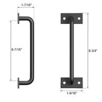 Door Handle Solid Steel Pull Push  For Sliding Barn Door