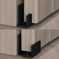 Adjustable Floor Guide for Sliding Barn Door Wall Mount Bottom