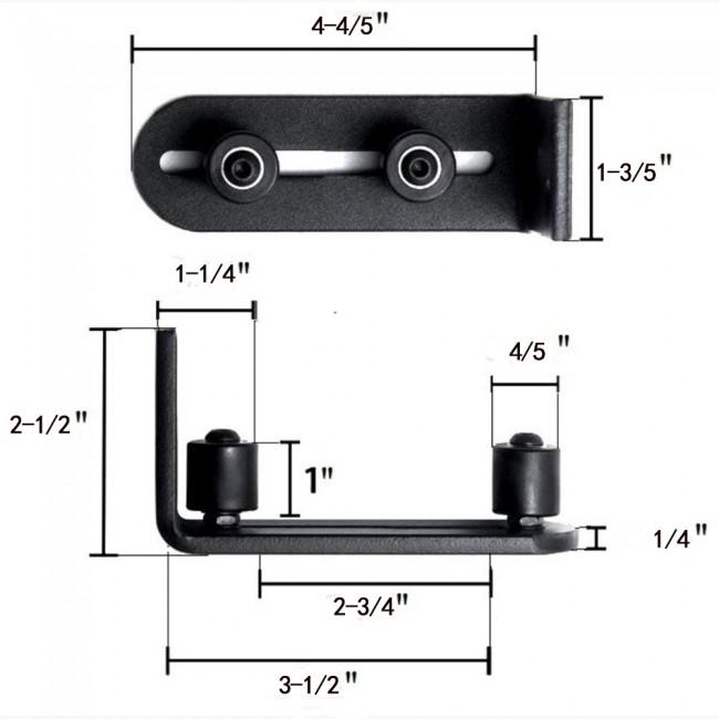Sliding Barn Door Floor Guide Adjustable Stay Roller with Ball Bearings 2 Pack