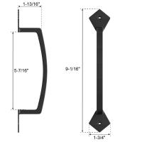 Barn Door Handle Black 9.6 inch Gate Handle Pull for Sliding Barn Doors Gates Garages Sheds