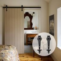 Black Arrow shape hanger antique roller kit for sliding barn door hardware 2pcs Barn Door Hanger