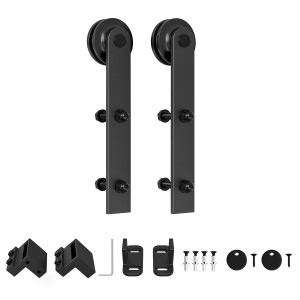 Black Roller Kit for Sliding Barn Door Hardware System  I Style