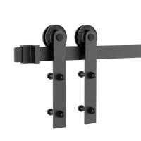 Black Roller Kit for Sliding Barn Door Hardware System  I Style