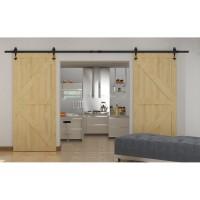 Black Wing shape hanger antique roller kit for sliding barn door hardware 2pcs Barn Door Hanger