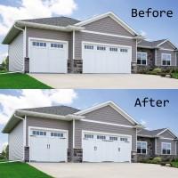 Decorative Garage Door Accents Hinges Handles Hardware Kit, 2 Handles And 4 Hinges