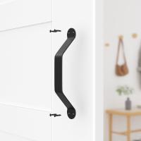Door Handle Black Steel Pull Arc Vertical Flush Door Pulls and Handles
