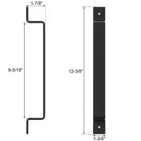 Door Handle Black Steel Pull Long Vertical Flush