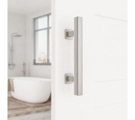 Door Handle Black Steel Pull Stainless Cuboid Vertical Flush
