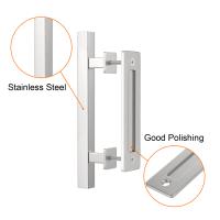 Door Handle Black Steel Pull Stainless Cuboid Vertical Flush Door Pulls and Handles