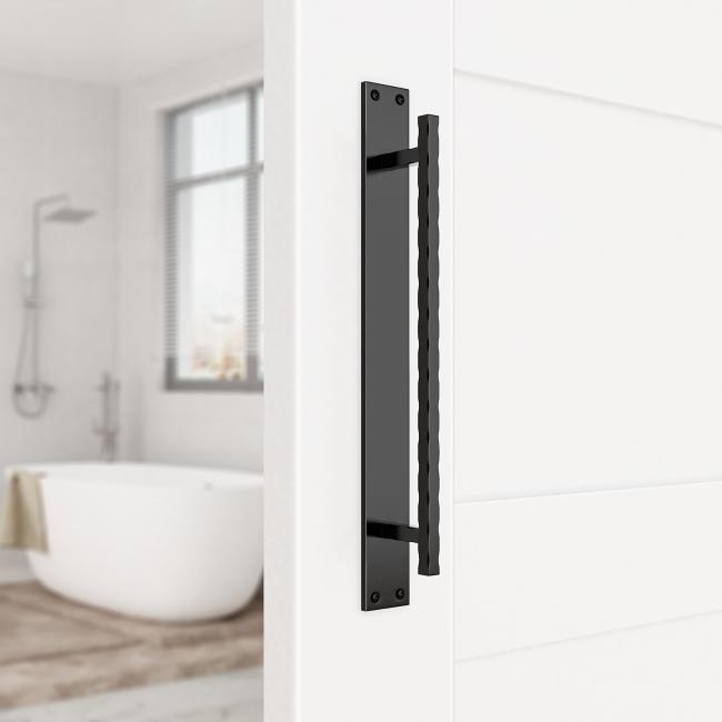 Door handle steel wave for sliding barn door hardware