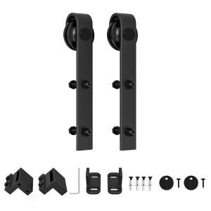 Roller for Sliding Barn Door Hardware J Shape Hanger Black Steel