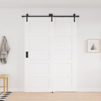 Single Track Bypass Barn Door Hardware Kit  Double Door