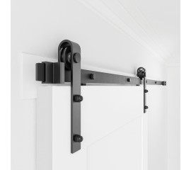 Sliding Barn Door Hardware Kit Single Door Bi-part J Shape
