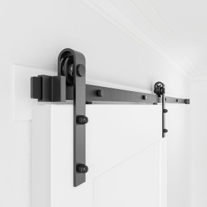Sliding Barn Door Hardware Kit Single Door Bi-part J Shape