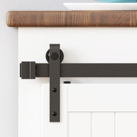 Super Mini Single Sliding Door Hardware Kit J Shape (Cabinet not included)