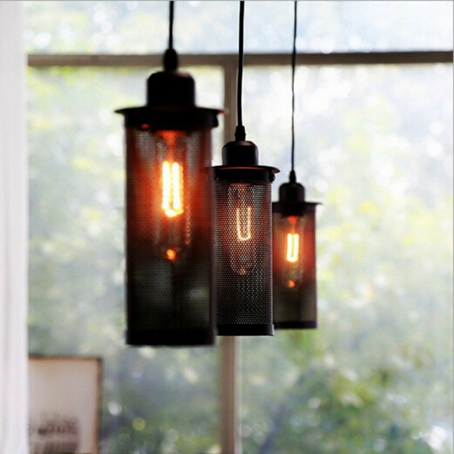 WinSoon 1 Pc Vintage Art Pendant Lamp Metal Decoration