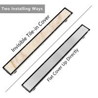 Winsoon 12 24 32 36 40 48 Inch Stainless Steel Linear Shower Drain Floor Drain Bathroom