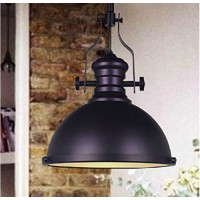 WinSoon 1PC Industrial Chandelier Metal Ceiling Pendant Light Vintage Retro Lamp Black