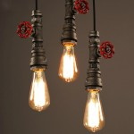 WinSoon 1PC Antique Pipe Rustic Pendant Light Lighting for Restaurant Bar E27 Fixtures