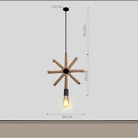 WinSoon 1PC Edison Modern Metal Simplify Bar Loft Pendant Lights Lamp Fixtures All Products
