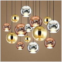 WinSoon 1PC Island Fixture Globe Glass Ceiling Hanging Lamps Fixture Without Bulb All Products