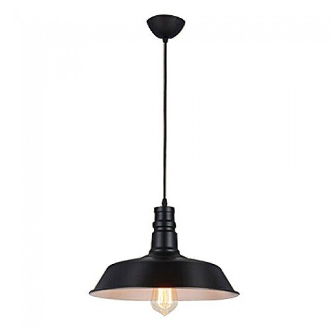 WinSoon 1PC Light Style Metal Wall Lamp Vintage Retro Pendant Light Black All Products