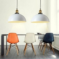 WinSoon 1PC Modern Design Half Globe Vintage Hanging Lamps Shade Ceiling Light