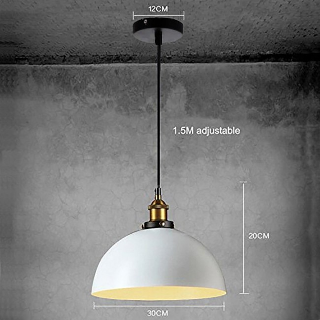 winsoon 1pc modern design half globe vintage hanging lamps shade