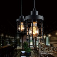 WinSoon 1PC Modern Style Metal Lamp Wall Lamp Vintage Loft Pendant Light Retro Cage Design All Products
