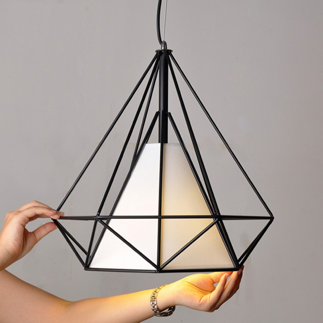 Winsoon 1pc Vintage Retro Loft Metal Ceiling Cage Light Pendant Lamp Shade