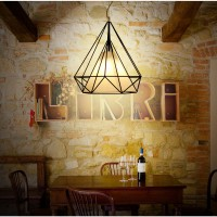 WinSoon 1PC Vintage Retro Industrial Loft Metal Ceiling Cage Light Pendant Lamp Shade