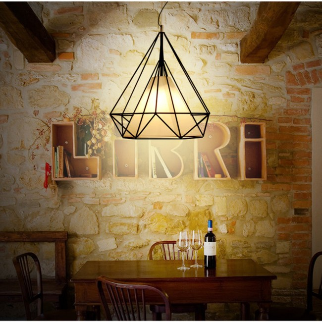 WinSoon 1PC Vintage Retro Industrial Loft Metal Ceiling Cage Light Pendant Lamp Shade  All Products