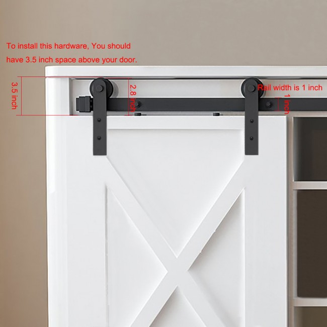 Winsoon 2 5 10 Ft Single Super Mini Sliding Barn Door