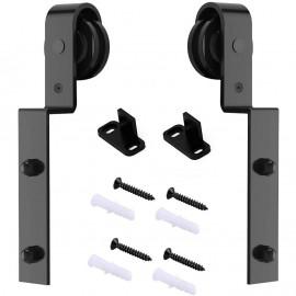 2 PCS Hanger Single Track Bypass Roller  J Shape