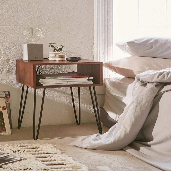 winsoon 2 rod gray legs rustic chunky desk sideboard table. Black Bedroom Furniture Sets. Home Design Ideas