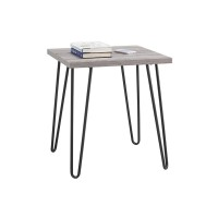WinSoon 2 Rod Gray Legs Rustic Chunky Desk Sideboard Table Solid Steel Hairpin Set of Four All Products