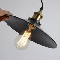 Winsoon 22cm Modern Vintage Industrial Metal Black Ceiling Lights