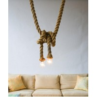 WinSoon 250cm Length Hemp Rope Industrial Pendant Edison Ceiling Light All Products