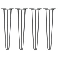 WinSoon 3 Rod Legs Gray Rustic Chunky Desk Sideboard Dressing Table Solid Steel Hairpin All Products
