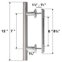 WinSoon 304 Stainless Steel Sliding Barn Door Handle Wood Door Closet Door Pull Vertical Silver
